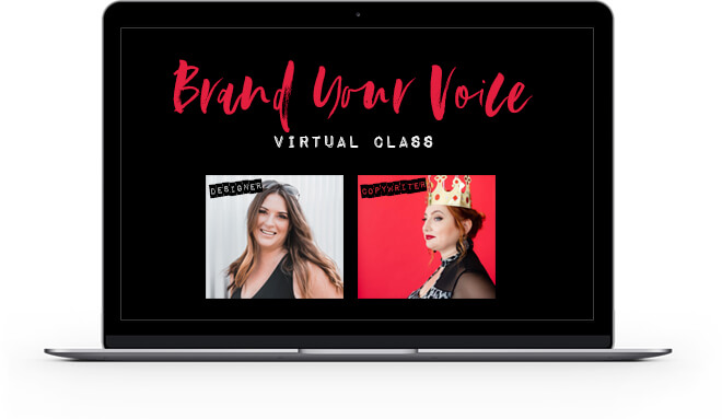 BRAND YOUR VOICE VIRTUAL CLASS FOREVER RECORDING